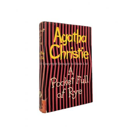 A Pocket Full of Rye Agatha Christie First Edition The Crime Club by Collins 1953